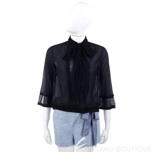 SCERVINO 黑色領結設計七分袖上衣 1320448-01