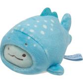 San-X 角落生物 造型裝扮娃娃 迷你沙包玩偶 角落小夥伴 蜥蜴 魚裝 藍底白點點