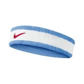 Nike 頭帶 Swoosh HeadBand 白 藍 男女款 毛巾布 運動 【PUMP306】 N000154415-3OS