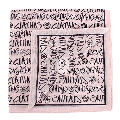 CLATHAS 滿版字母印花純綿帕領巾(粉紅色)989265-16