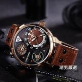 男士運動款手錶戶外多功能休閒特種兵防水男新品大錶盤石英錶xw