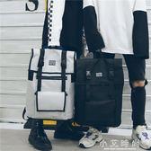 後背包男韓版潮大容量商務背包學生書包電腦包女 小艾時尚 小艾時尚