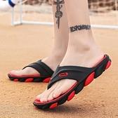 新款夏季潮流拖鞋室外防滑人字拖男士休閒夾拖英倫沙灘涼鞋男「艾瑞斯居家生活」