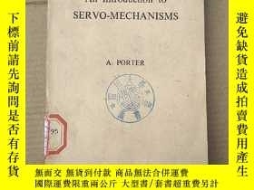 二手書博民逛書店an罕見introduction to servo-mechanisms(P1449)Y173412