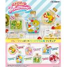 盒裝6款【日本正版】三麗鷗 水果標本 小花瓶 盒玩 擺飾 瓶中造景 山姆企鵝 大眼蛙 Re-Ment 152103