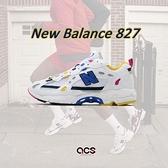 New Balance 休閒鞋 827 NB 白 黃 藍 男鞋 女鞋 老爹鞋 復古慢跑鞋 運動鞋 【ACS】 ML827AAOD