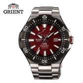 ORIENT 東方錶 M-FORCE FOR AIR DIVING系列 潛水機械錶 鋼帶款 SEL07002H 紅色 - 49.1mm