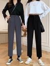 新款西裝褲直筒闊腿褲黑色高腰垂感休閒九分褲子顯瘦女裝 夏季狂歡