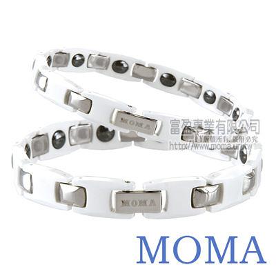 【MOMA】陶瓷鍺磁手鍊-M63(白)對鍊-情人對鍊