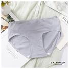 Catworld 溫柔呢喃。純棉無痕V型孕婦低腰內褲【18808530】‧S-XL