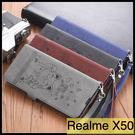 【萌萌噠】OPPO Realme X50 可愛彩繪保護殼 招財貓 復古側翻皮套 可磁扣 插卡 支架 皮套 手機套