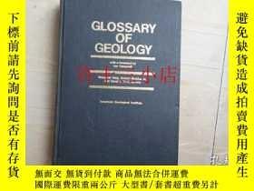 二手書博民逛書店GLOSSARY罕見OF GEOLOGY 精裝英文原版1973出