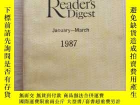 二手書博民逛書店Readers罕見Digest 1987 january-Mar