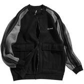 日系潮牌刺繡外套厚款加絨棒球服潮流青少年男士拼接休閒寬鬆夾克