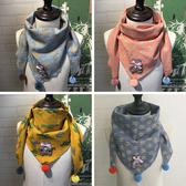 韓版春秋冬季兒童薄款圍巾男童可愛女圍脖純棉寶寶嬰兒小孩三角巾  潮流小鋪