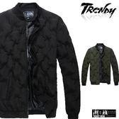 『潮段班』【SD090351】韓版素面羅紋袖口保暖鋪棉夾克 外套