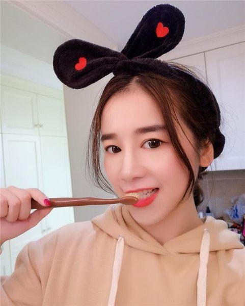 韓版兔耳朵束髮帶可愛洗臉簡約甜美森女頭巾     SQ8600『寶貝兒童裝』