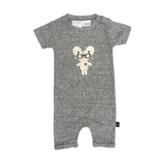 兒童連身衣 幼童 短袖連身 有機棉 澳洲 HUXBABY 有機棉連身衣 - 俏皮金鼠