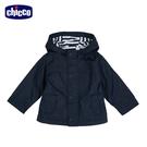 chicco-公路賽車-條紋裡防風連帽長外套