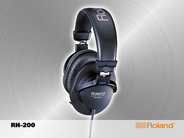 【金聲樂器廣場】全新 ROLAND RH-200 專業級 立體聲 監聽耳機 有雙色 黑 銀