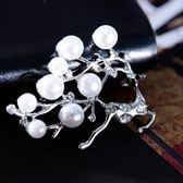 韓版水晶天鵝時尚簡約胸針胸花女百搭開衫別針毛衣服裝配飾鑽