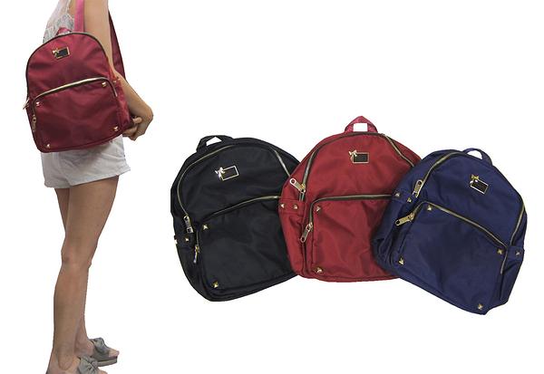 ~雪黛屋~COUNT 後背包小容量主袋內二隔層水瓶外袋可8吋平板防水水晶布材質休閒BCD5000510900