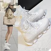 網紅真皮馬丁靴子女2020新款夏季英倫風中筒厚底透氣短靴女秋鞋子【小艾新品】