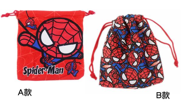 【卡漫城】 蜘蛛人 束口袋 剩B款 ㊣版 手機袋 收納袋 小提包 萬用袋 Spiderman 絨毛 復仇者聯盟