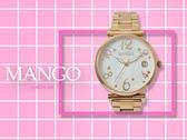 【時間道】MANGO星光閃耀仕女腕錶 / 白貝殼面玫瑰金鋼帶(MA6739L-81R)免運費