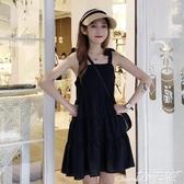 無袖洋裝2020新款超仙無袖黑色小個子吊帶裙法式小眾連身裙女夏季赫本裙子 小天使