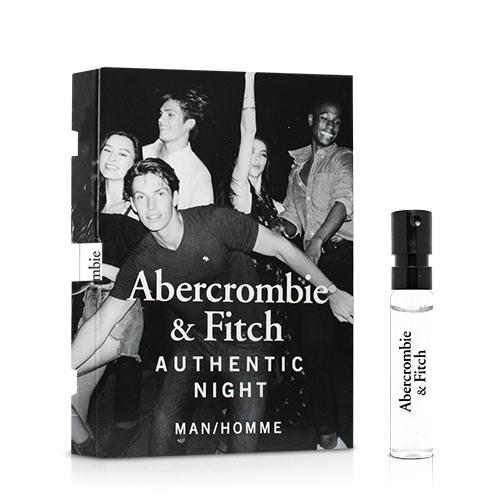 Abercrombie & Fitch 真我夜色男性淡香水針管(2ml)【ZZshopping購物網】