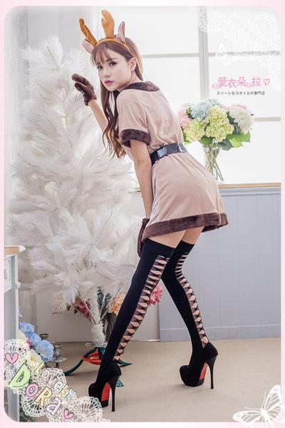 絲襪 黑色大腿襪 正面素面 背面一排挖空造型膝上襪- 愛衣朵拉