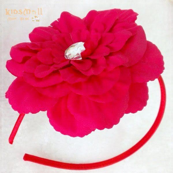 Cutie Bella牡丹花髮箍-Red