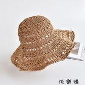 韓版鏤空鉤針草帽