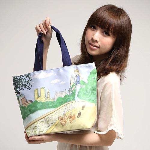 Reiko Aoki青木禮子Park bridge彩繪手提包730021-75
