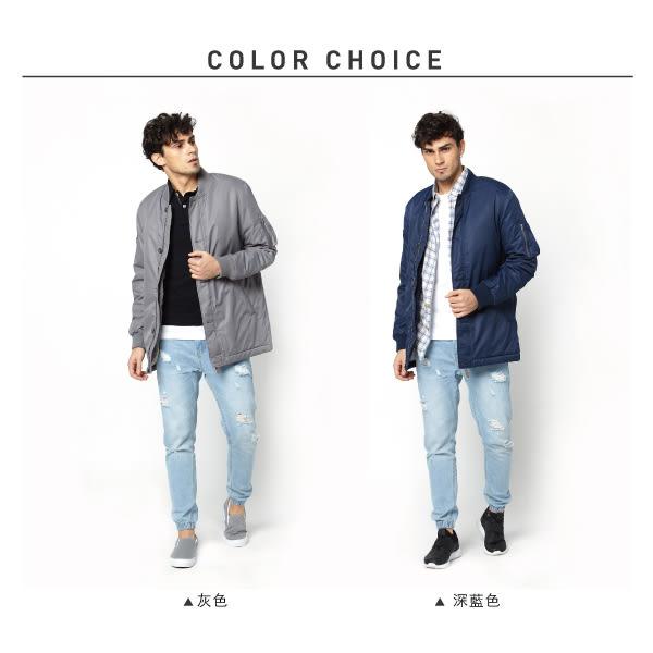 【JEEP】長版MA-1飛行夾克 (灰色)