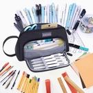 又敗家@AISCOOL超大容量1.5公升文具收納袋化妝包X0026(可手提/放70支筆)鉛筆盒文具袋鉛筆袋
