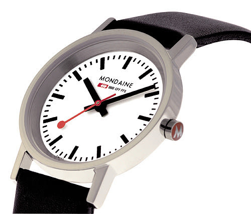 Mondaine 瑞士國鐵平面3.6cm經典腕錶
