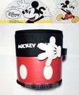 車之嚴選 cars_go 汽車用品【WDC103】日本 NAPOLEX Disney 米奇 圓型垃圾桶 置物桶 黑紅色