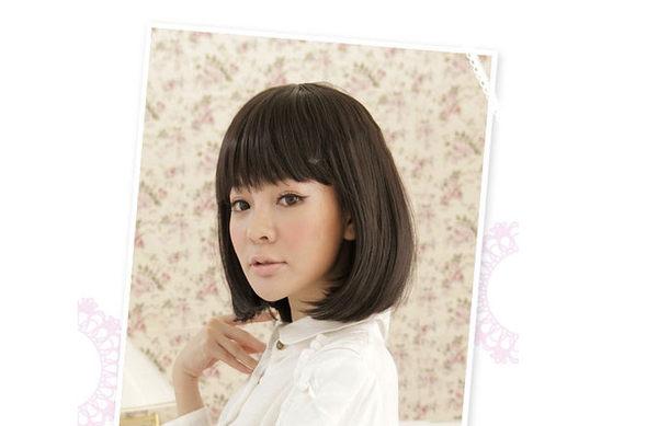 Qmishop 修飾小臉款 完美女孩齊瀏海鮑伯短髮假髮 BOB 黑棕 深棕 亞麻【F039】