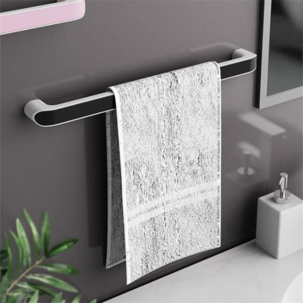 毛巾架 浴室桿墻壁掛式免打孔多功能衛生間收納置物北歐簡約創意TW【快速出貨八折鉅惠】