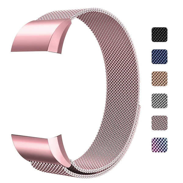 錶帶 BBSUYOS Replacement Bands Compatible for Fitbit Charge 2 Bands,Milanese  Large: 6.1吋- 9.9吋