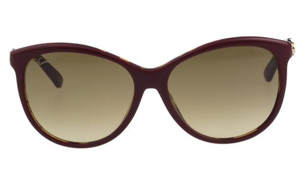 GUCCI-紅綠系列 太陽眼鏡(暗紅色)