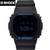G-SHOCK 亮色線條全黑膠錶NECG31