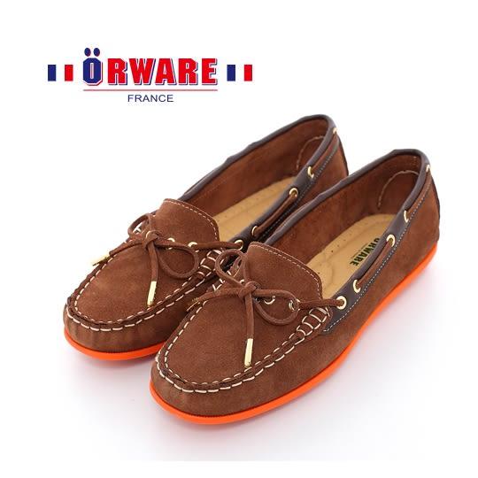 ORWARE-「超柔軟」MIT彩虹底麂皮休閒鞋 652002-03(咖)