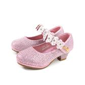 CHILDREN WITH 小女生鞋 娃娃鞋 低跟 水鑽 粉紅色 中童 童鞋 no124 17.5~21cm