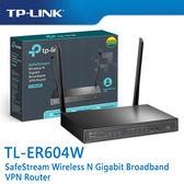 【免運費】限量 TP-LINK  TL-ER604W SafeStream Wireless N Gigabit 無線寬頻 VPN 路由器
