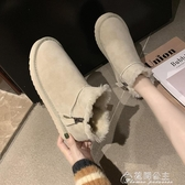 雪地靴雪地棉靴女短筒新款冬季加絨加厚保暖韓版學生百搭面包棉鞋 快速出貨