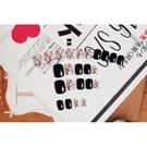 【YW-19/125】日系方頭粉黑星點短款美甲甲片 假指甲貼片