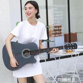 38寸民謠木吉他初學者男女學生練習樂器送大禮包新手入門jita    JSY時尚屋